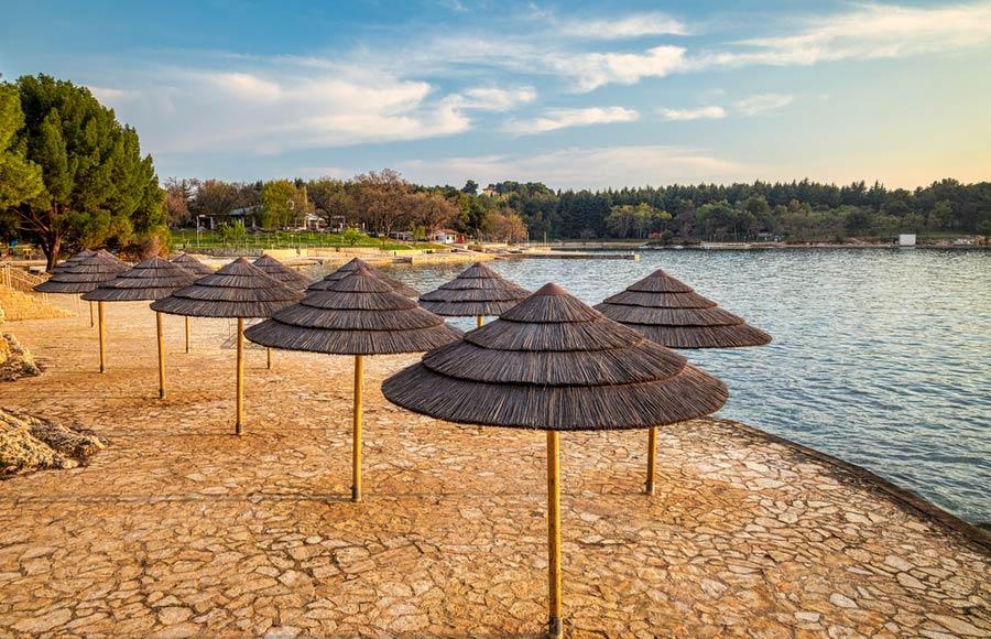 Blue Lagoon strand in Poreč