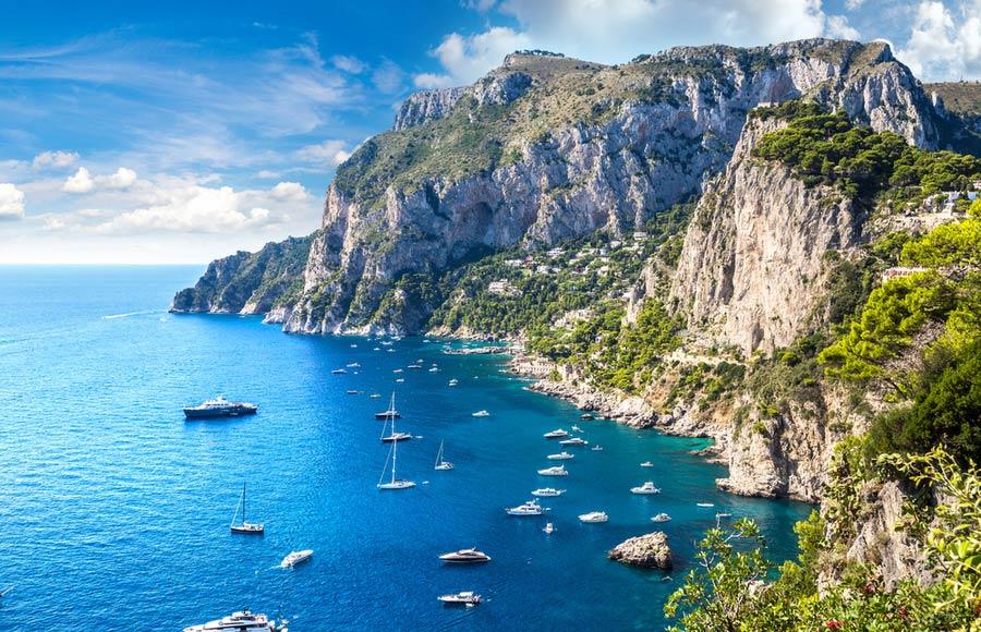 Capri eiland aan de Amalfikust