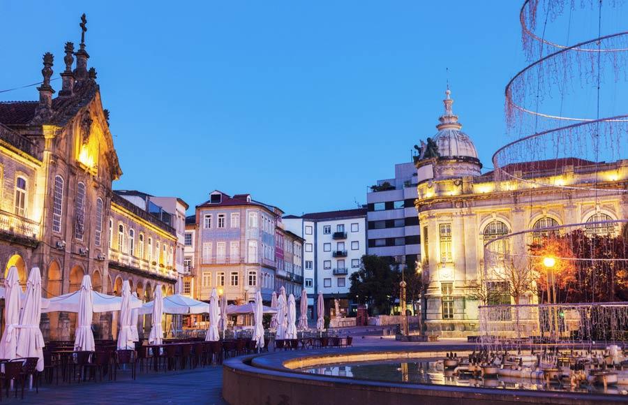 Centrum van historische stad Braga