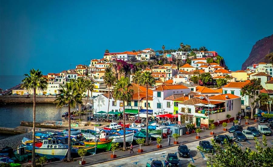 Stad Funchal op Madeira