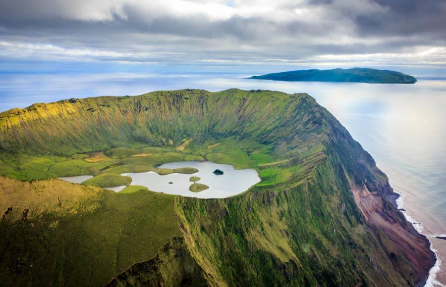 De krater op Corvo