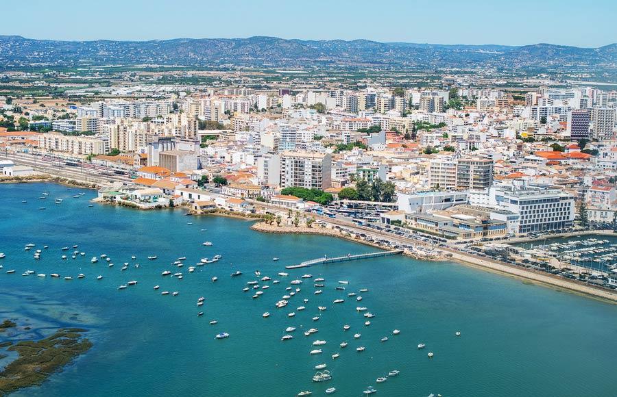 De stad Faro - Algarve