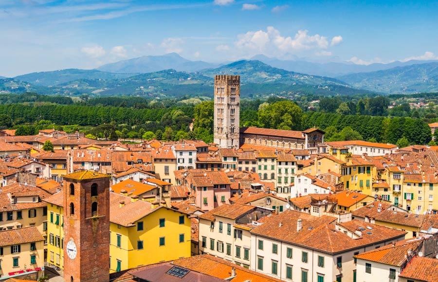 De stad Lucca in Toscane