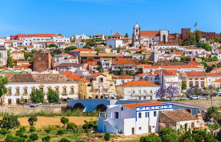De stad Silves - Algarve