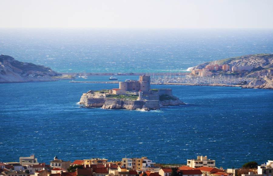 Frioul Archipel eiland met fort Château d'If