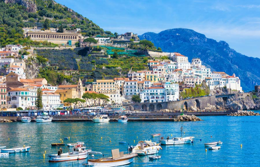 Het dorpje Amalfi