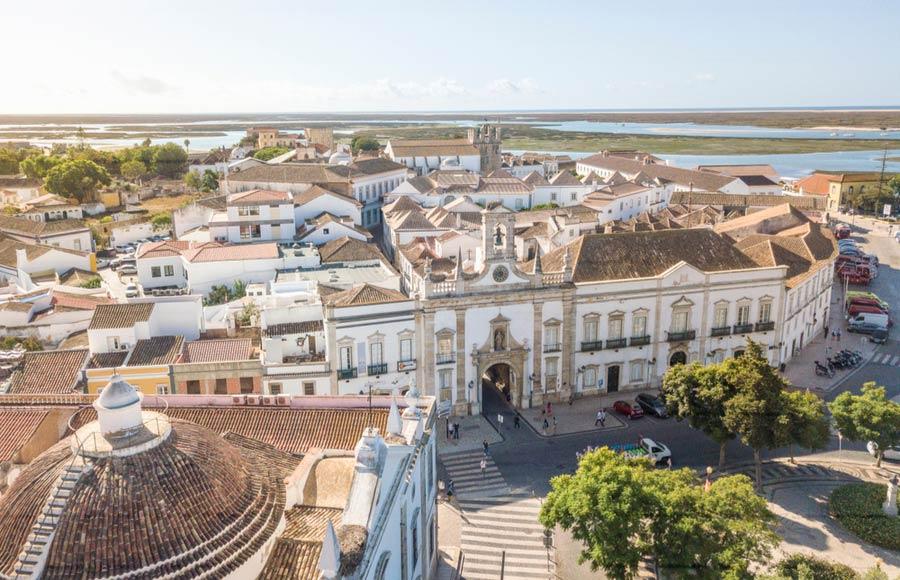 Het oude centrum van Faro