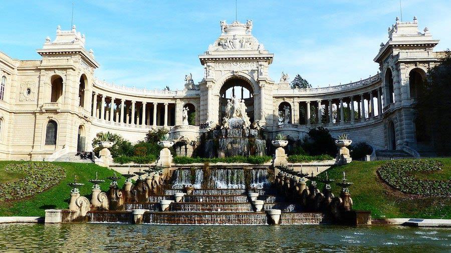 Het paleis Longchamp in Marseille