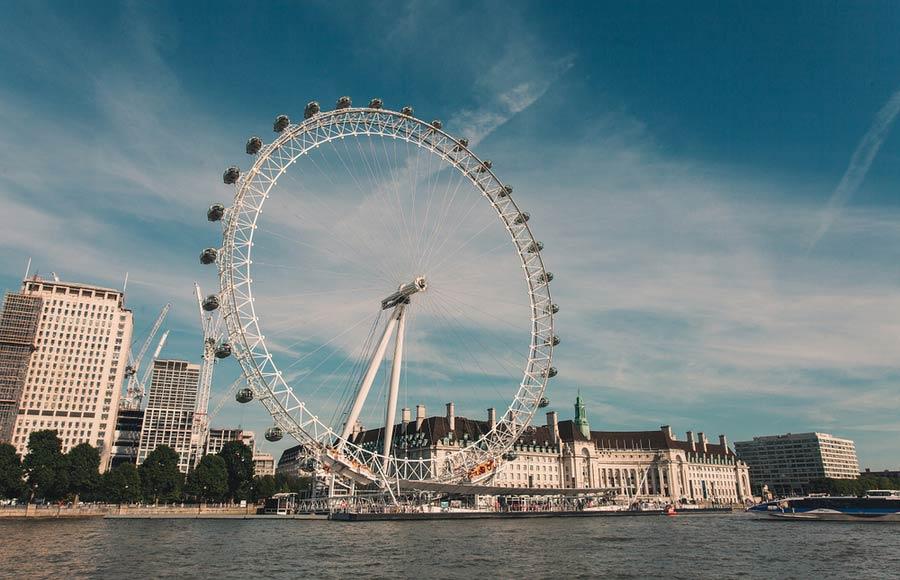 Het reuzenrad Londen Eye