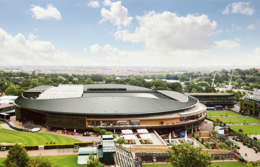 Het Wimbledon Stadion in Londen