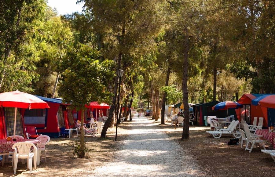 Kamperen op de camping in Toscane