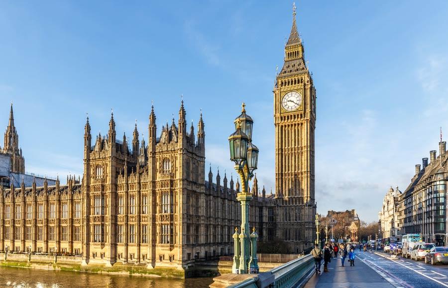 Klokktentoren Big Ben met parlementsgebouw
