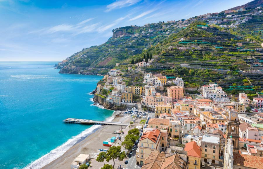 Minori aan de Amalfikust in Italië