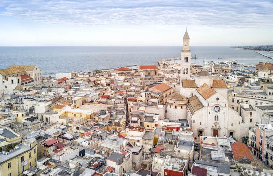 Uitzicht over Bari in Puglia