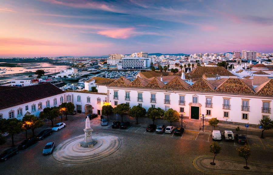 Uitzicht over Faro Portugal