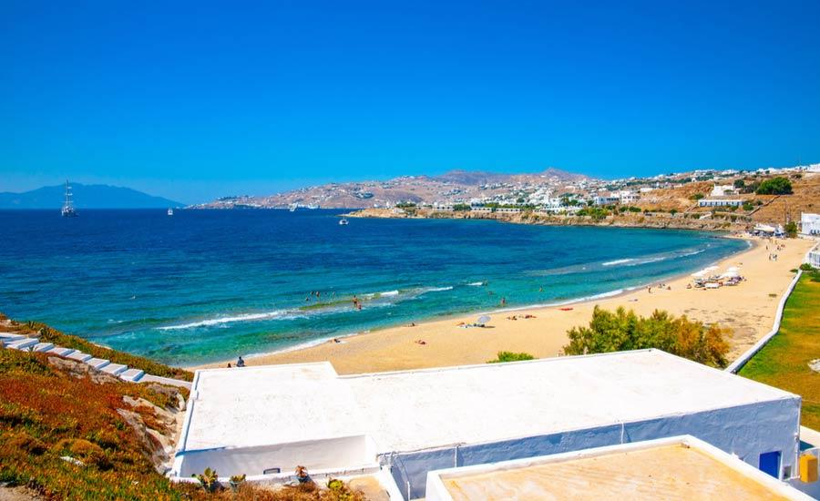 Mykonos Megali Ammos beach