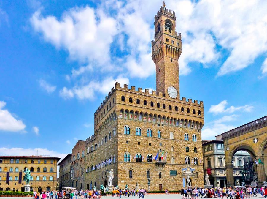 Palazzo Vecchio gebouw in Florence
