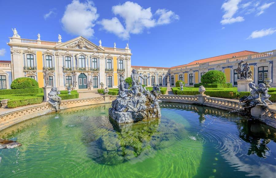 Paleis van Queluz in Lissabon