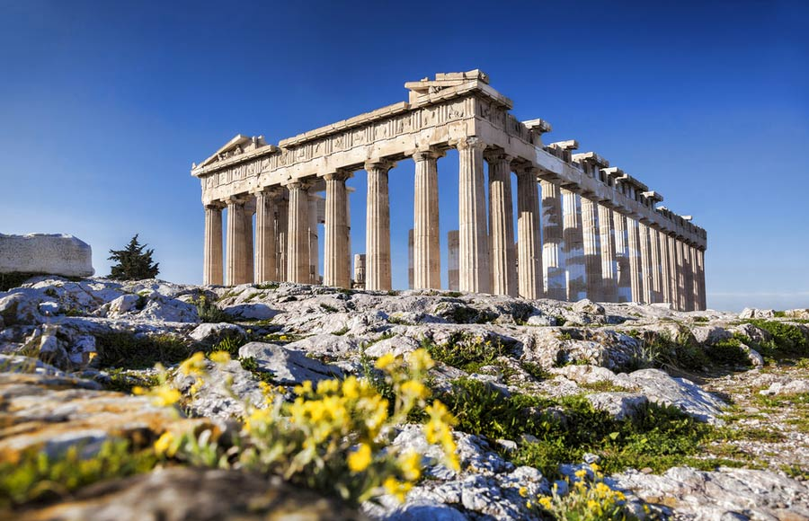 Parthenon in Athene