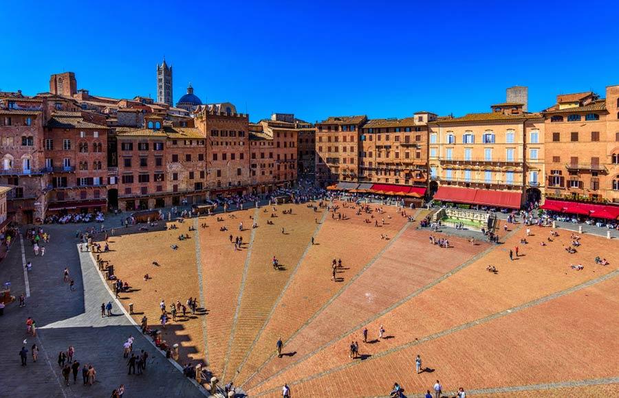Plein Piazza del Campo in Siena