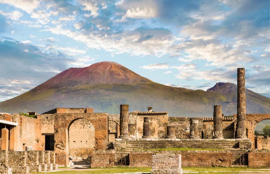 Pompeï en Vesuvius in Napels