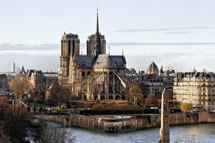 Uitzicht op de Notre-Dame