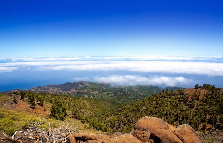 Prachtig uitzicht vanuit het Nationaal park de La Caldera de Taburiente