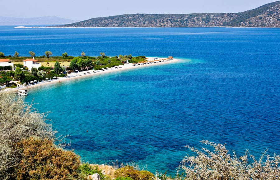 Prachtige strand Agios Dimitrios