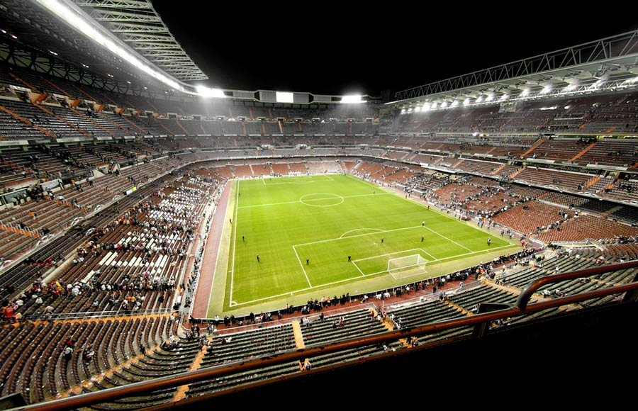 Real Madrid stadion binnenkant