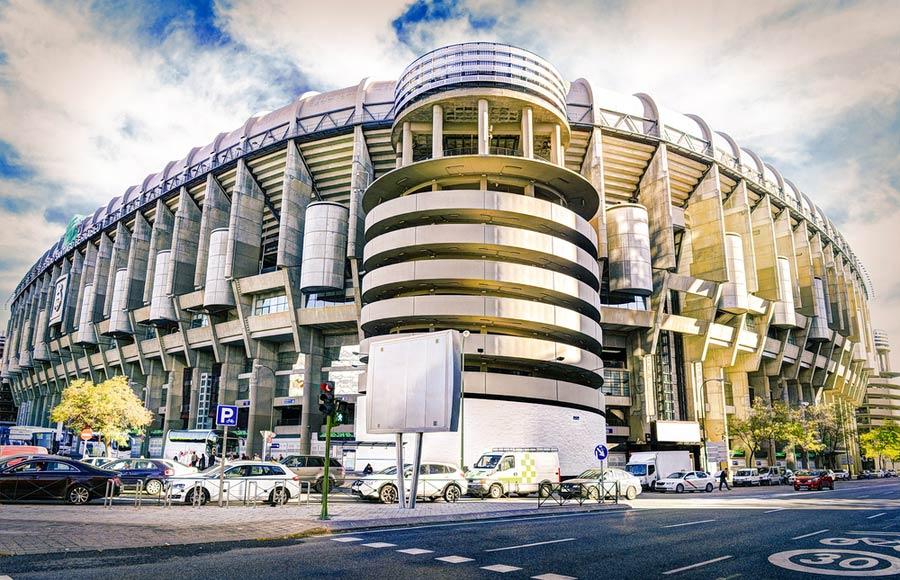 Real Madrid stadion van de buitenkant