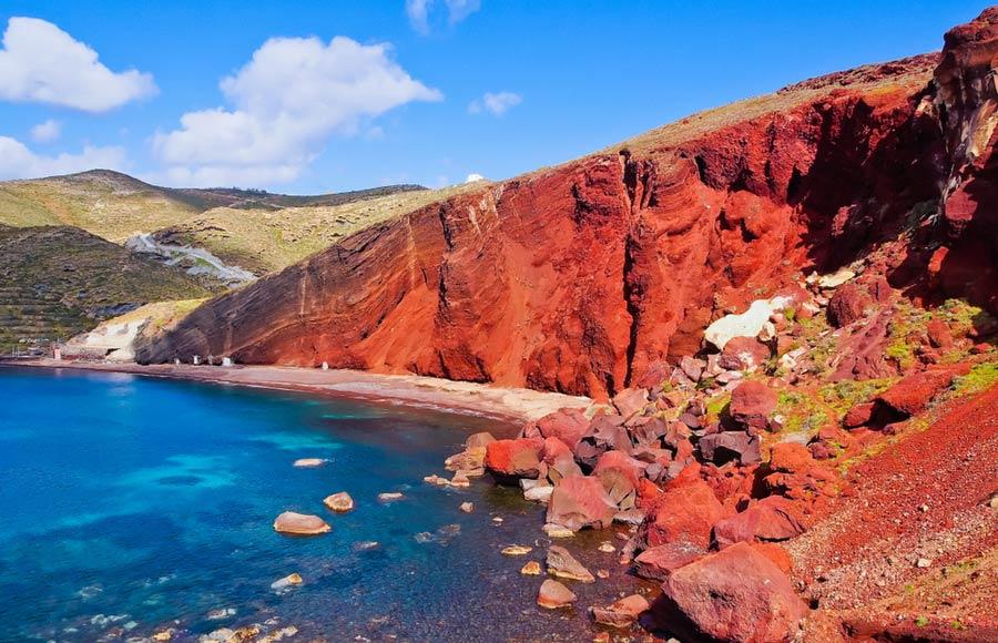 Rode strand / Red Beach op Santorini
