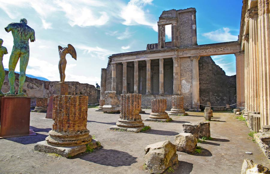 Ruïnes van de Romeinse stad Pompeï