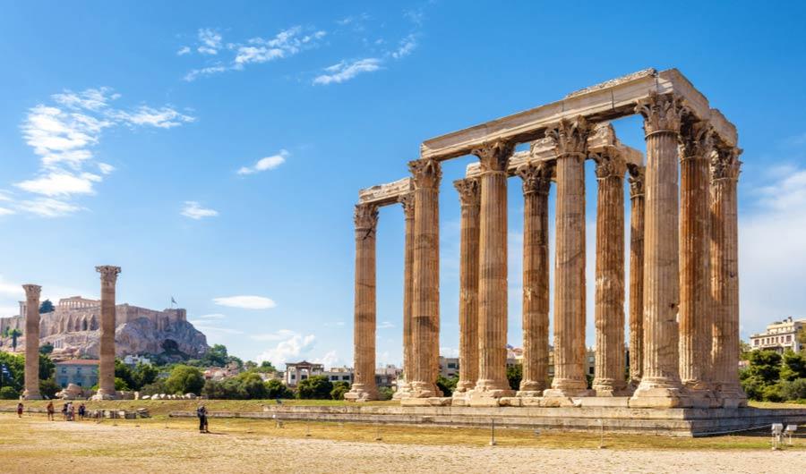 Ruïnes van Olympieion - Athene