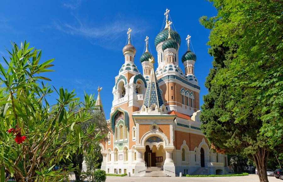 Russische kathedraal in Nice