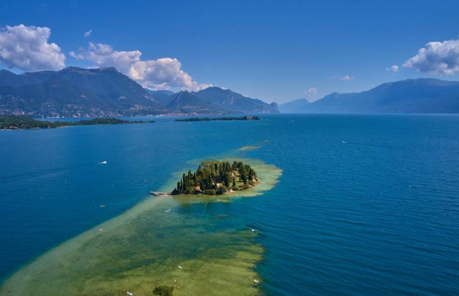 San Biagio eiland in het Gardameer