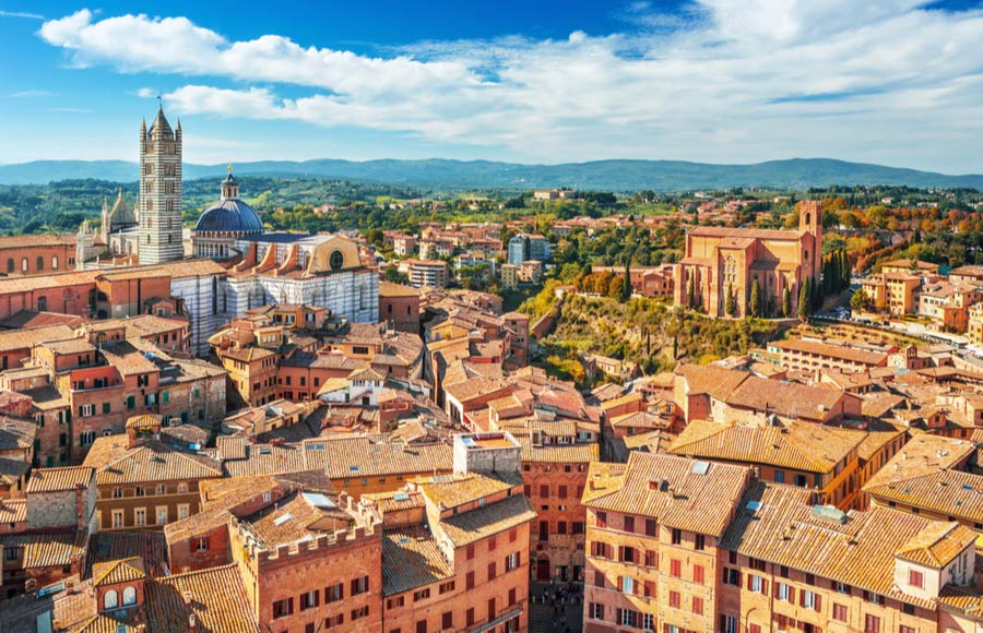 Siena in Toscane
