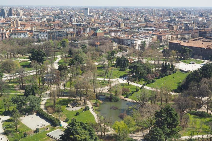 Stadspark van Milaan Parco Sempione