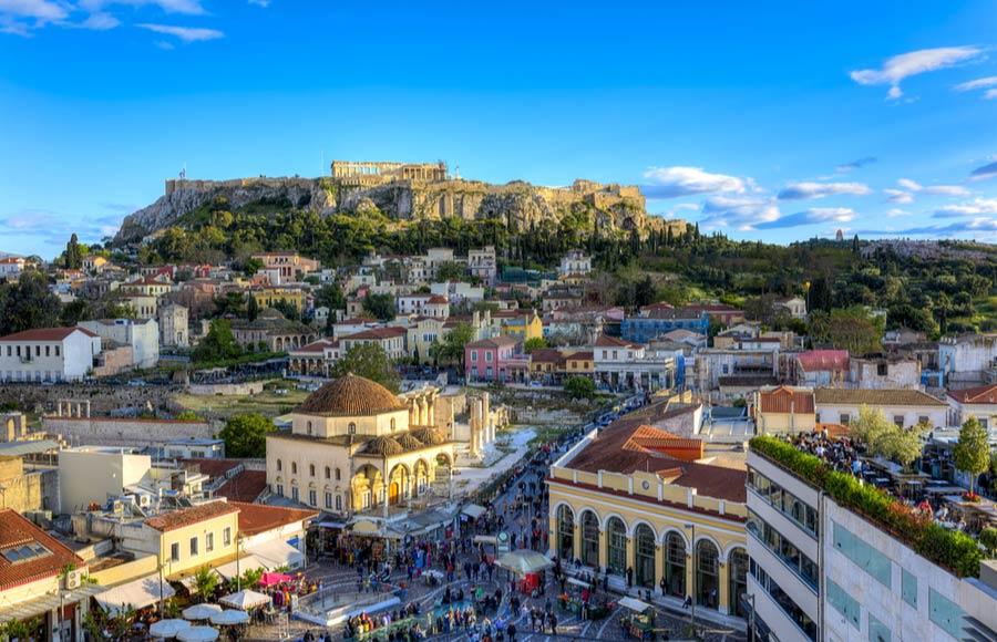 Stedentrip of vakantie naar Athene Griekenland
