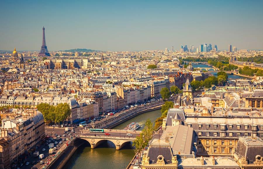 Stedentrip of vakantie naar Parijs in Frankrijk