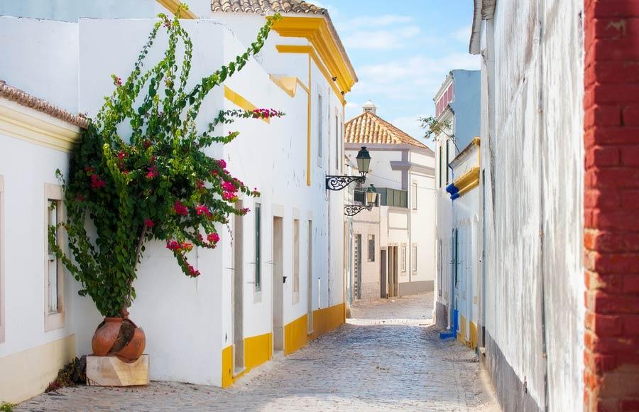 Straat in Faro