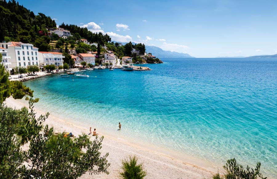 Strand in de buurt van Split