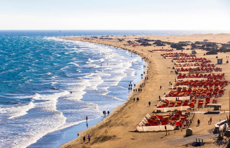 Het strand Maspalomas beach