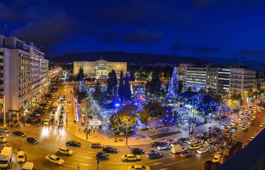 Syntagma plein in het centrum Athene