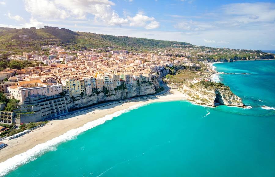 Uitzicht over Tropea in Calabrië
