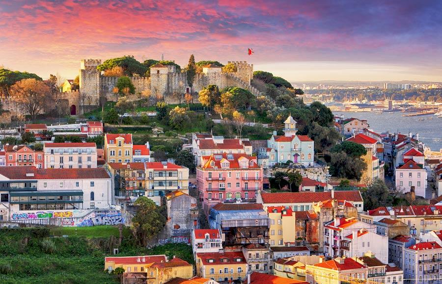 São Jorge kasteel in Lissabon