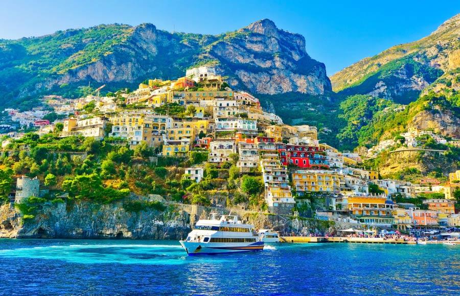 Prachtig zicht op Positano aan de Amalfikust