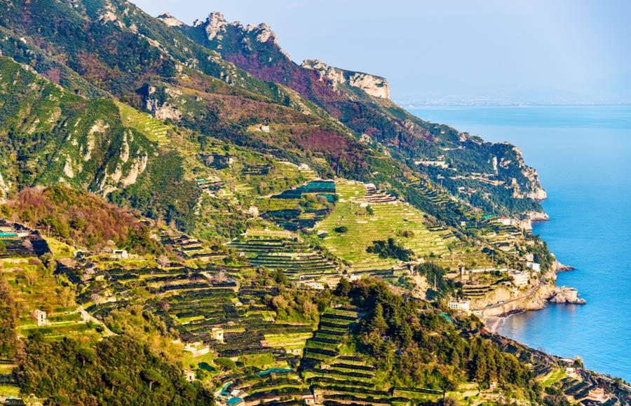Uitzicht vanaf Ravello over de Amalfikust