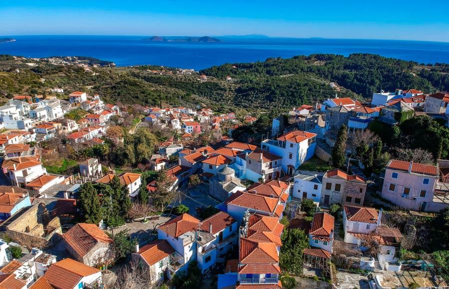De stad Chora op Alonissos