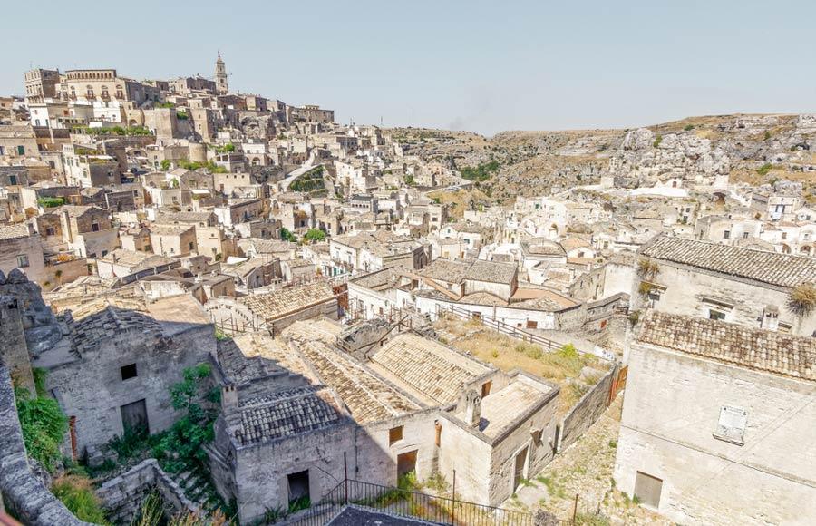 Uitzicht over Matera