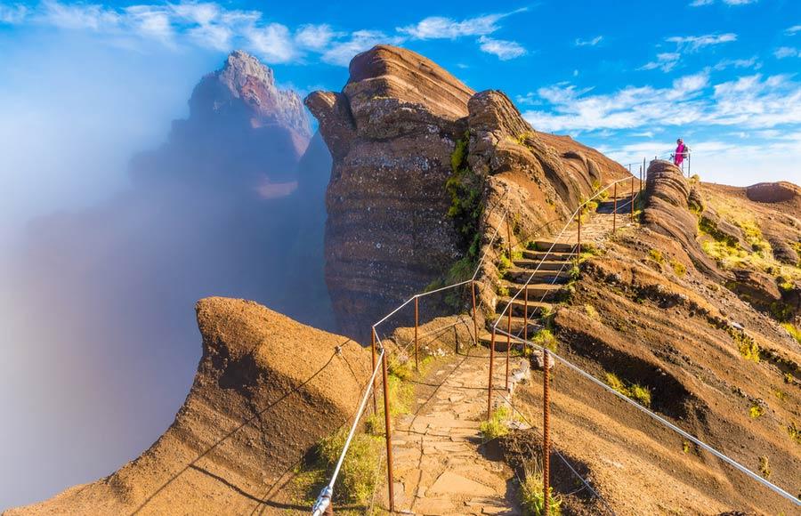 Wandelpad bij Pico do Arieiro